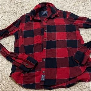 Abercrombie and Fitch Buffalo plaid button down XS